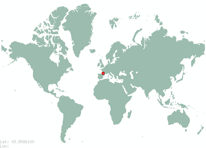 Uzice in world map